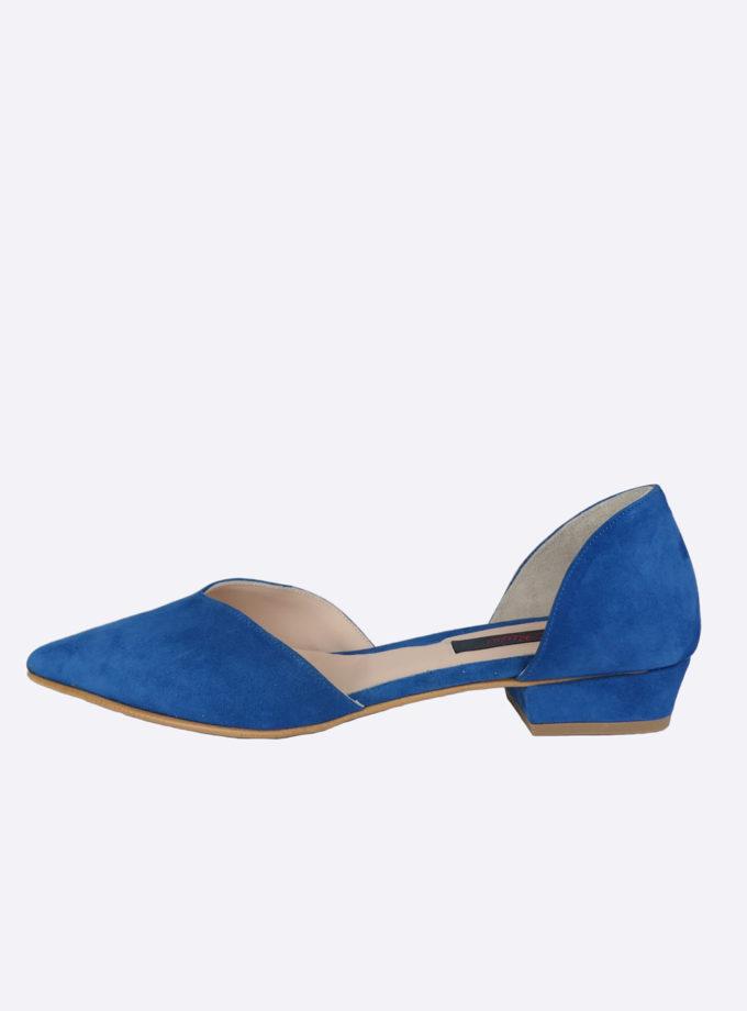 ballerina blauw suede