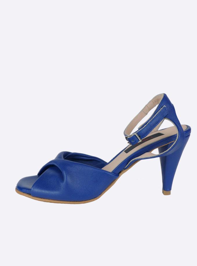 sandaal royal blauw leer