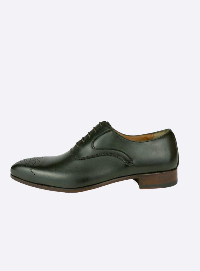 Schoenen donkergroen leer