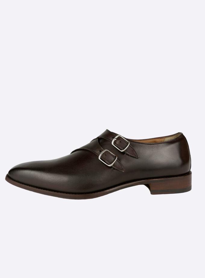 Schoenen dubbele gesp bordeaux